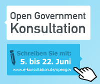Logo zur Open Government Konsultation des IT-Planungsrates