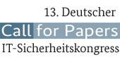 Logo: 13. Deutscher IT-Sicherheitskongresses - Call for papers